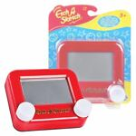 New Pocket Etch A Sketch Classic Red Retro Drawing Toy Official