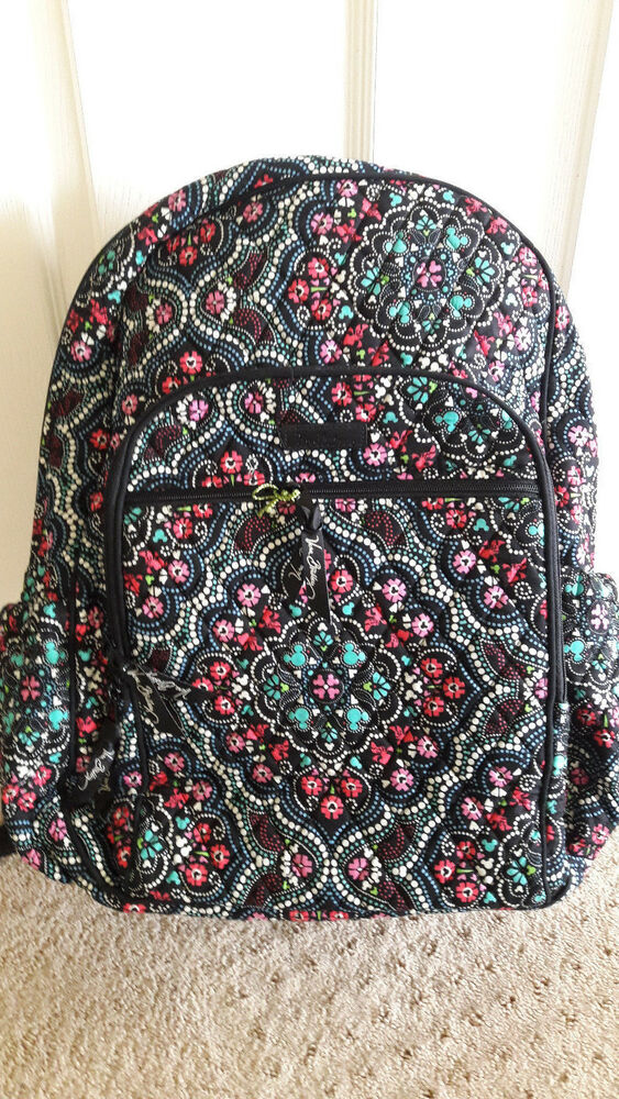 d4aabe6718df NWT new VERA BRADLEY Disney Mickey and Minnie Mouse Medallion laptop  Backpack