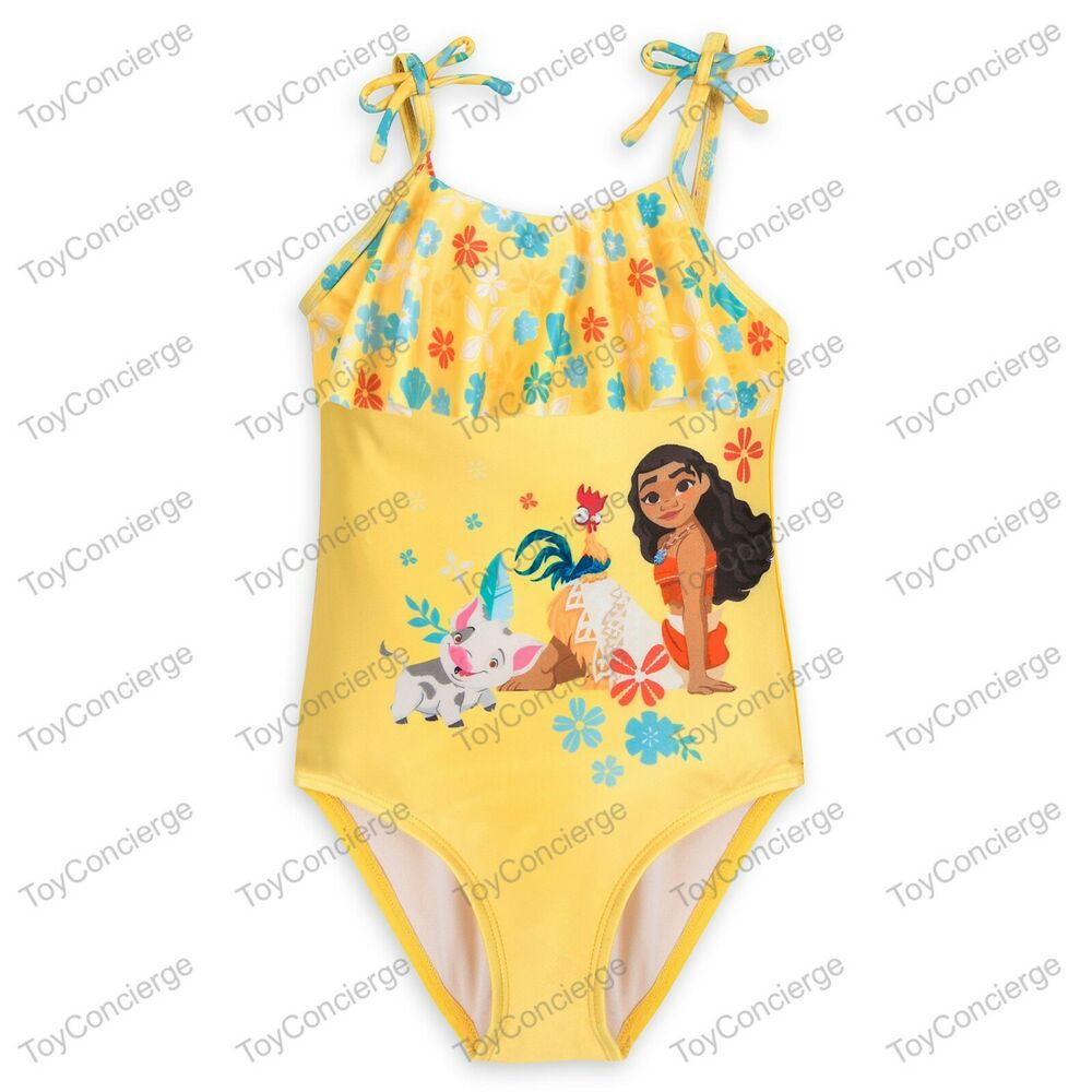 2ceb75469f90e Details about DISNEY Store SWIMSUIT for Girls MOANA 1 Piece PICK Size NWT