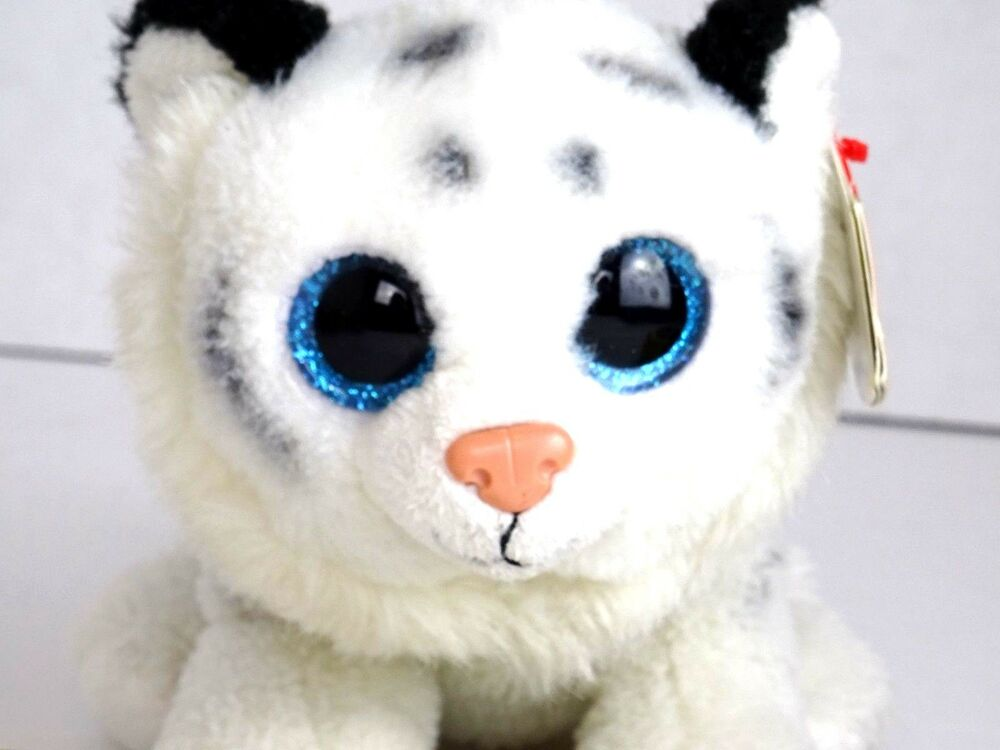 0d68a3044fb Ty beanie boo tundra the white tiger plush stuffed with heart tags animal  toy ebay jpg