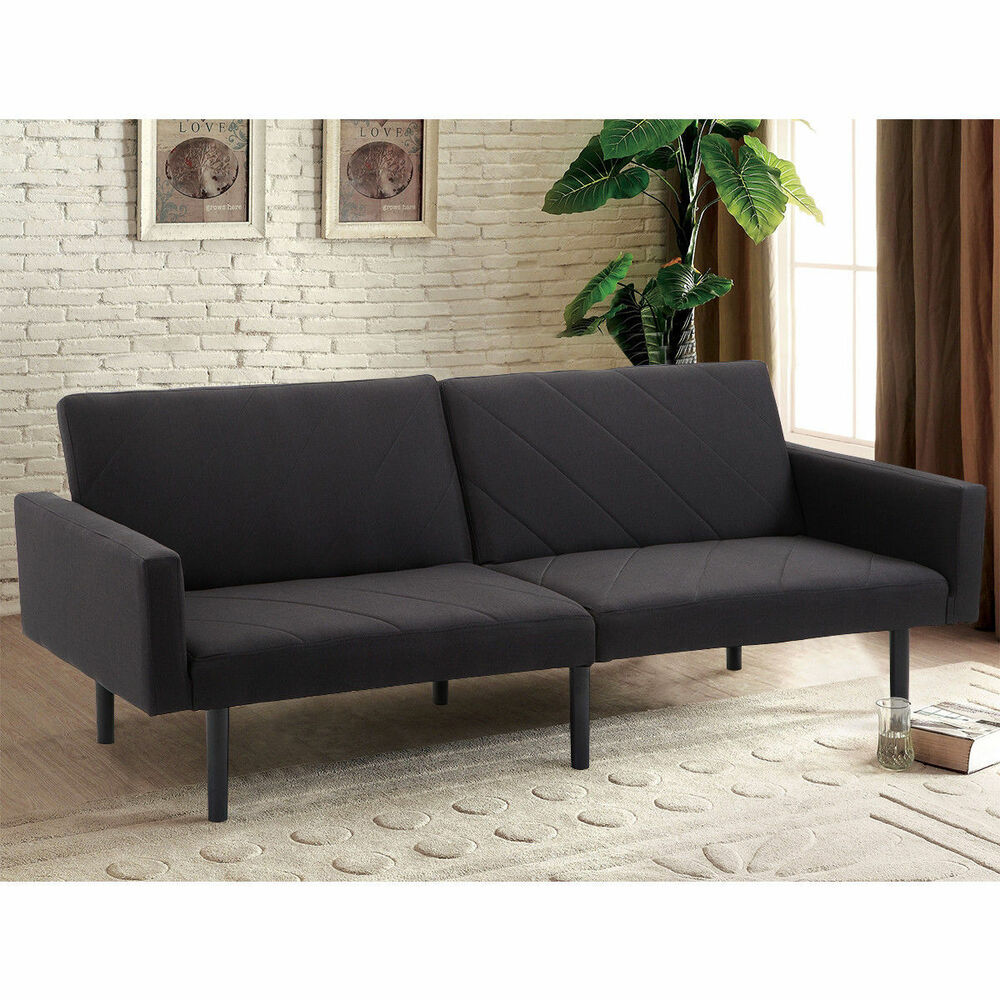 Futon Sofa Bed Convertible Recliner Couch Splitback