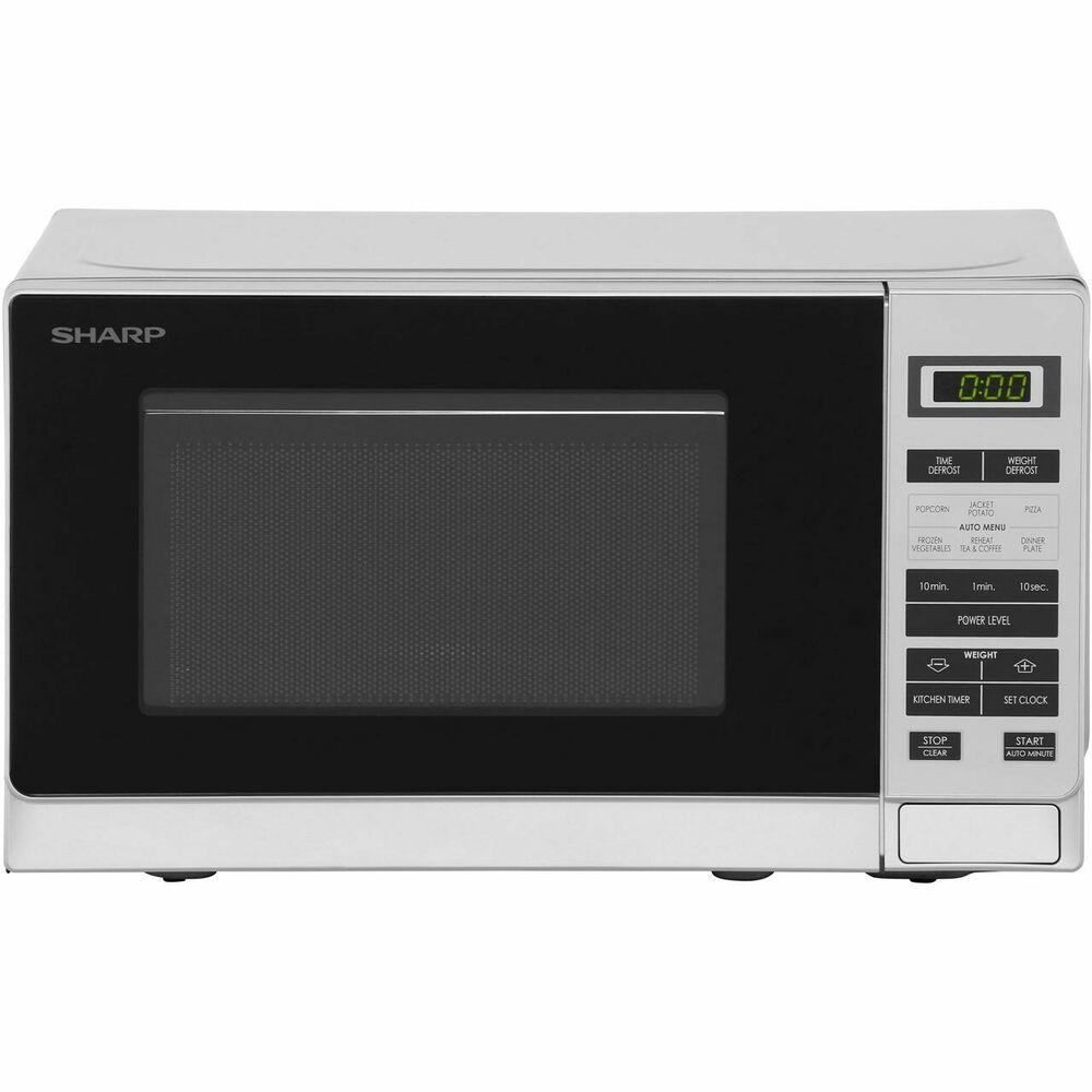 sharp microwave r220slm 800 watt microwave free standing silver new from ao ebay. Black Bedroom Furniture Sets. Home Design Ideas