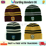 Harry Potter Beanie Hat Gryffindor Slytherin Ravenclaw Hufflepuff Fancy Dress
