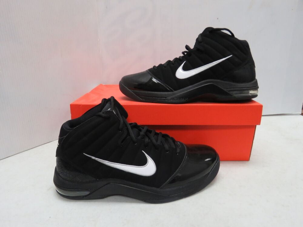 155da0749774 Details about Nike Mens Air Max Go Basketball Shoes White Black Silver Sz  11 367179-011 W580w