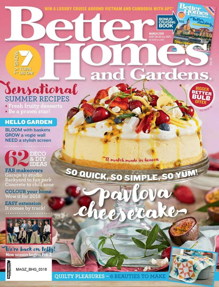 Better Homes Gardens: BETTER HOMES AND GARDENS BHG MAGAZINE MARCH 2018 DIY ISSUE - NEW