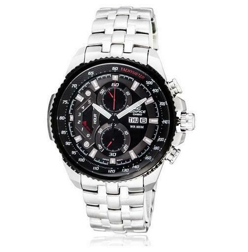 d21e08cfe Details about Casio Edifice Stainless Steel Mens Chronograph Watch EF -558D-1AVEF