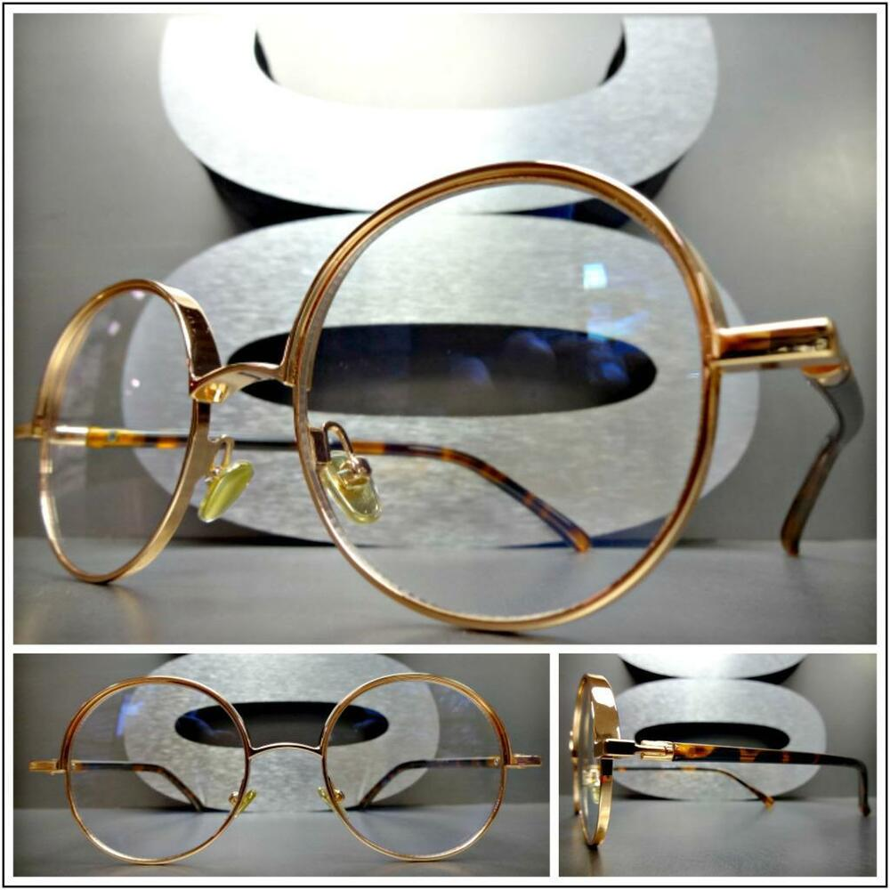 a494bb705f721 Details about Mens Women CLASSY UNIQUE Clear Lens EYE GLASSES Round Rose  Gold   Tortoise Frame