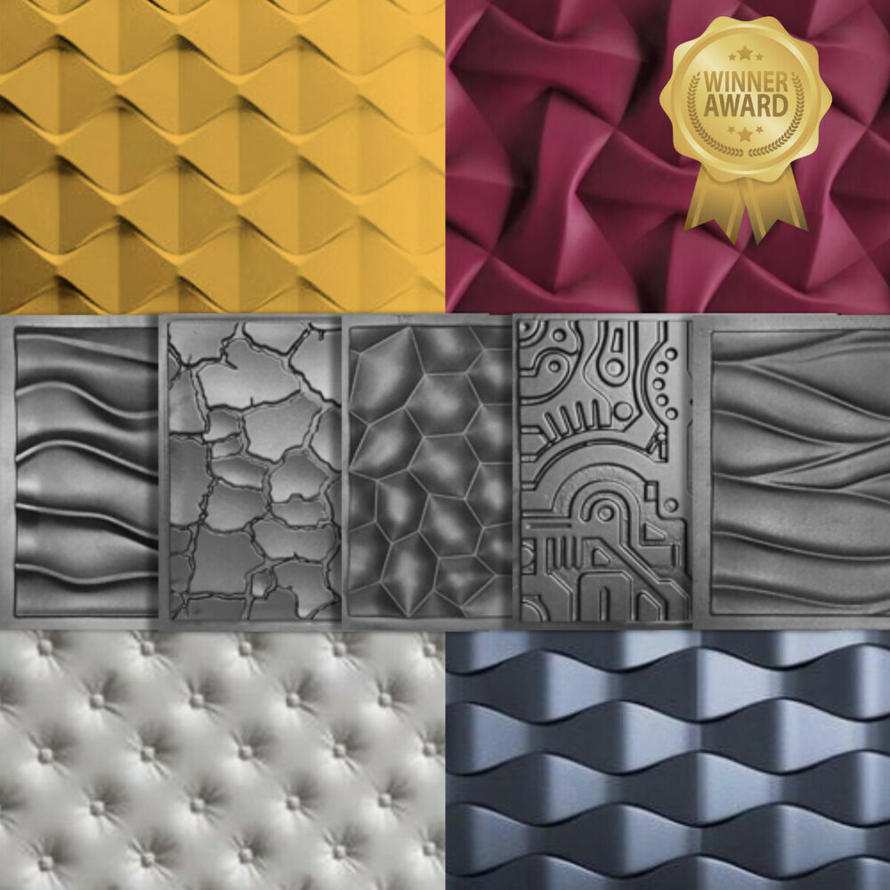 Molds For 3D Tile Panels Mold Plaster Wall Stone Wall Art Decor ABS ...