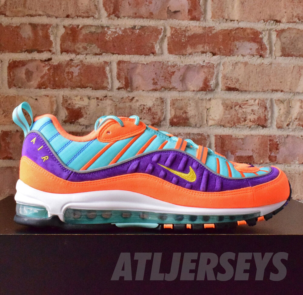 superior quality f8db1 46fe0 Details about Nike Air Max 98 QS Cone Tour Yellow Hyper Grape 924462-800