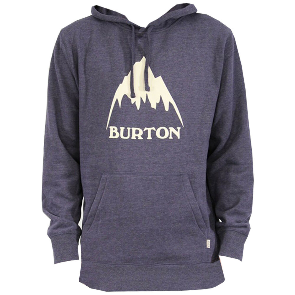 cff64e630 Details about BURTON Mens - Classic Mountain Pullover Hoodie - Mood Indigo  Heather