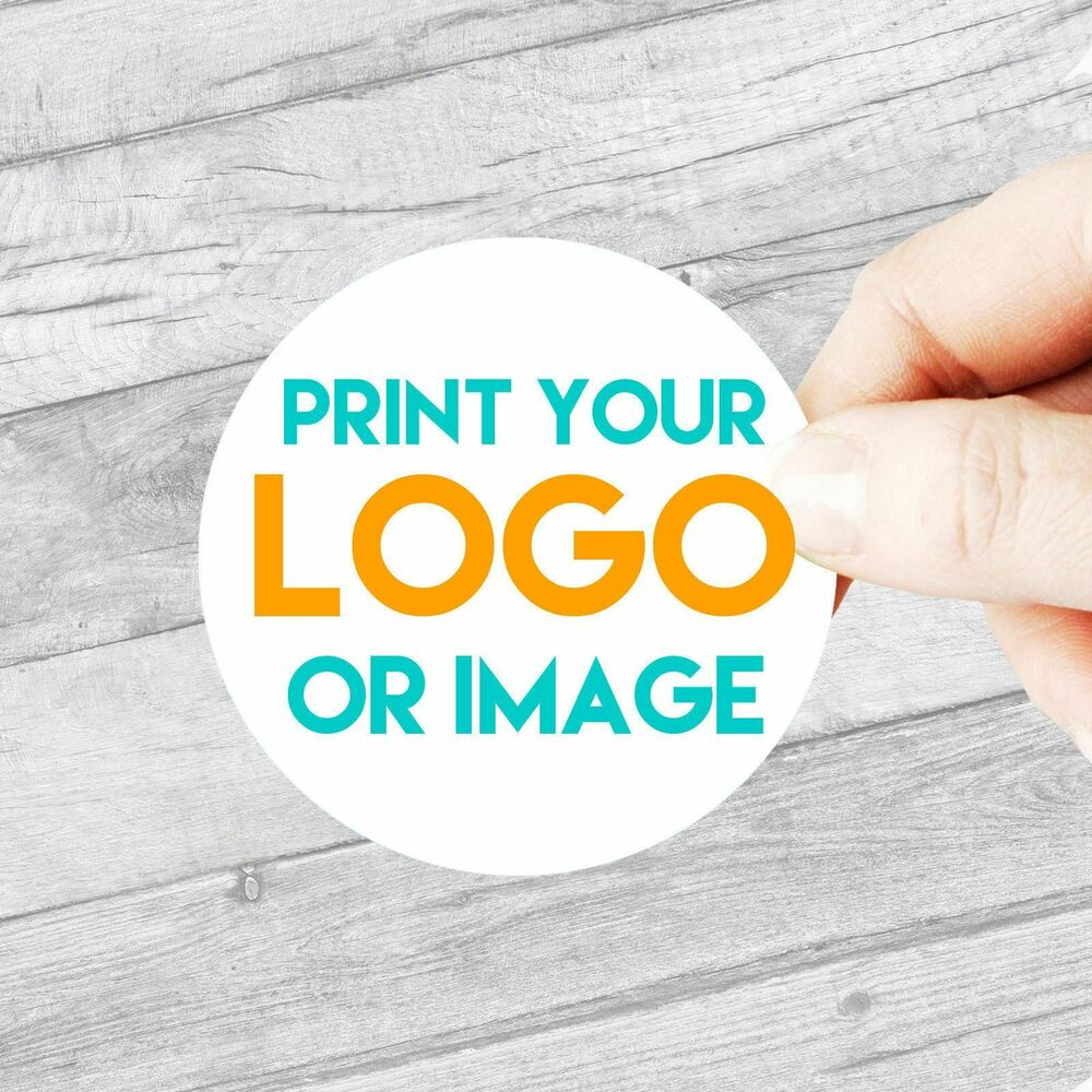 Details about custom logo stickers large 63 5mm personalised business company name labels