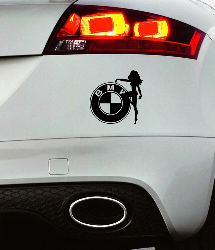 Details about bmw badge car window paintwork funny sticker vinyl decal