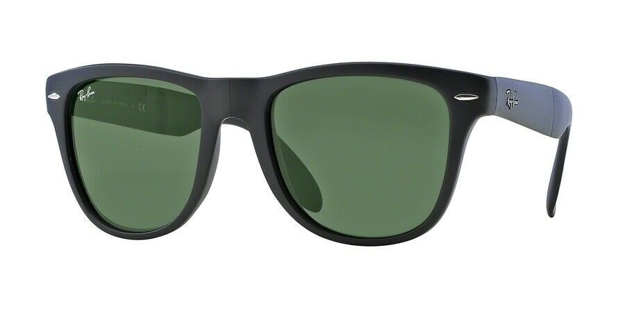 fd9b8e93263 Details about Ray-Ban RB4105 601S 50mm Matte Black Frame Crystal Green Lens  Sunglasses