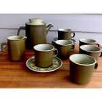 Franciscan Reflections Stoneware Teapot Tea Cups Farmhouse Style Rustic