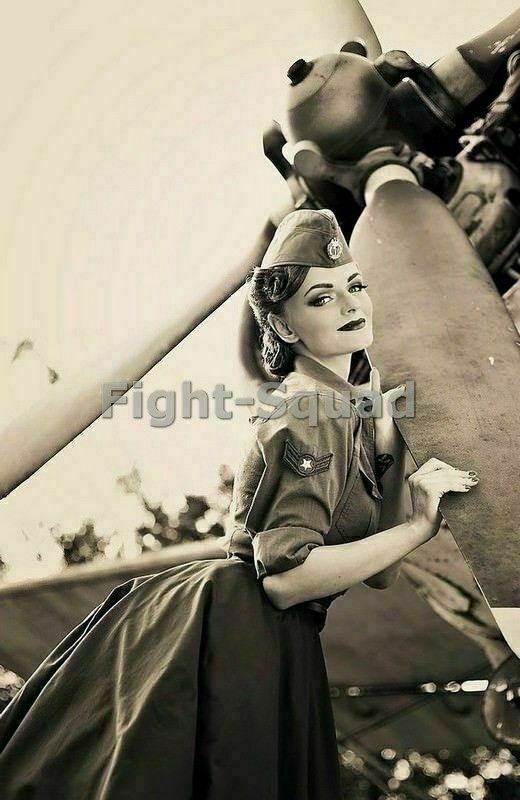Ww2 Picture Photo Pin Up Sexy Girl Pinup On The Propeller 2536  Ebay-7918