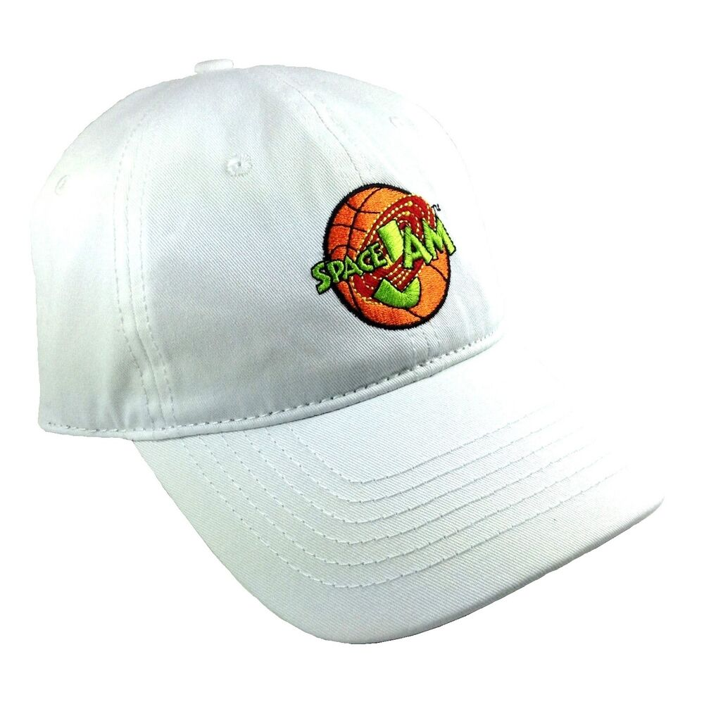 f21ae7e567d Details about LOONEY TUNES TUNE SQUAD SPACE JAM LOGO DAD HAT SLOUCH CAP  CURVED BILL ADJUSTABLE