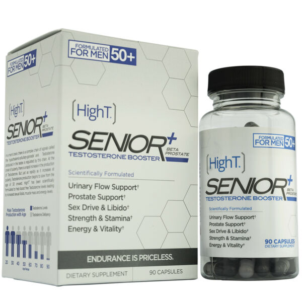 High T Senior Testosterone Booster Supplement, 90 Capsules