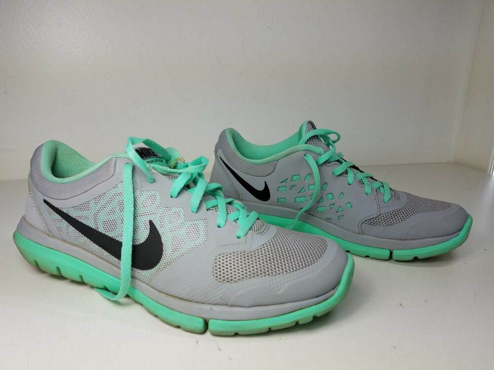 0a807edc50aa Details about  150 size 8.5 Nike Free Run Gray   Mint   Black Womens  Sneakers Sport Shoes