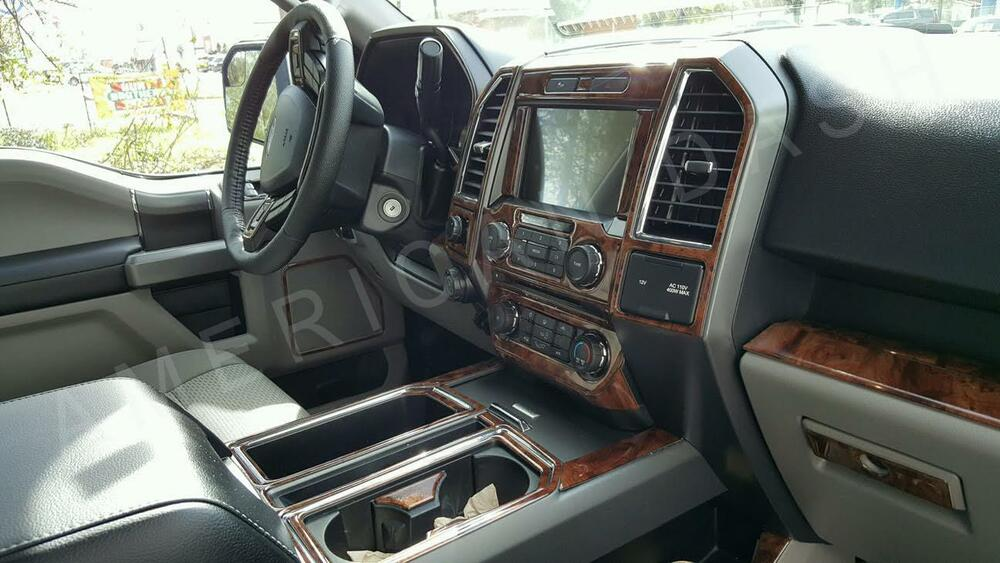 2015 2016 2017 2018 interior wood dash trim kit for ford xl xlt f150 f 150 f 150 ebay - Kit de interior ...
