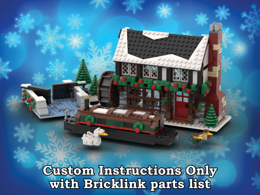 Winter Village Pub Instructions Only For Lego Bricks Christmas