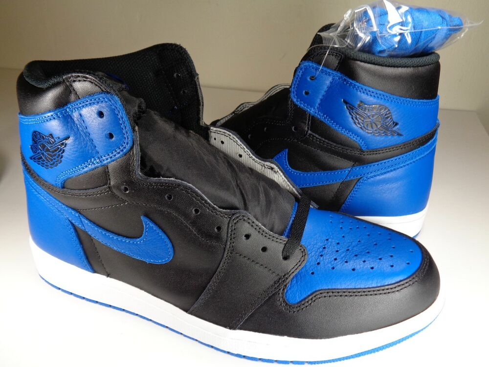96858feaed4849 Details about Nike Air Jordan Retro 1 High OG Royal Blue Black White SZ  10.5 (555088-007)