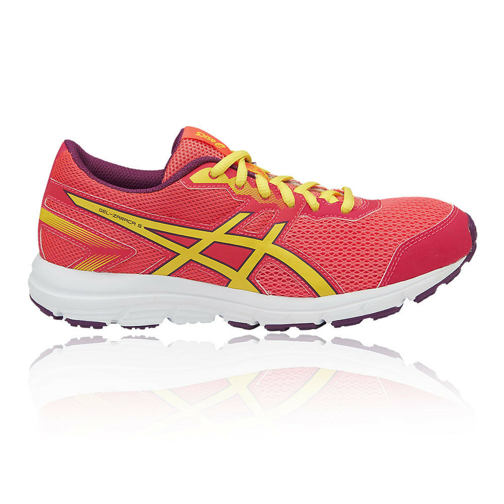 7498e945756eb Details about Asics Boys Girls GEL-ZARACA 5 GS Junior Running Shoes  Trainers Sneakers Red