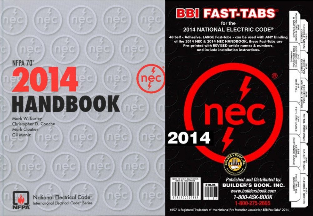 NFPA 70 National Electrical Code (NEC) Handbook and Fast Tabs, 2014 ...