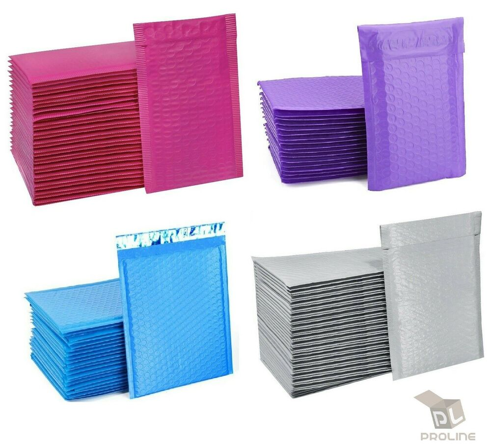 any size poly bubble mailers shipping mailing padded bags