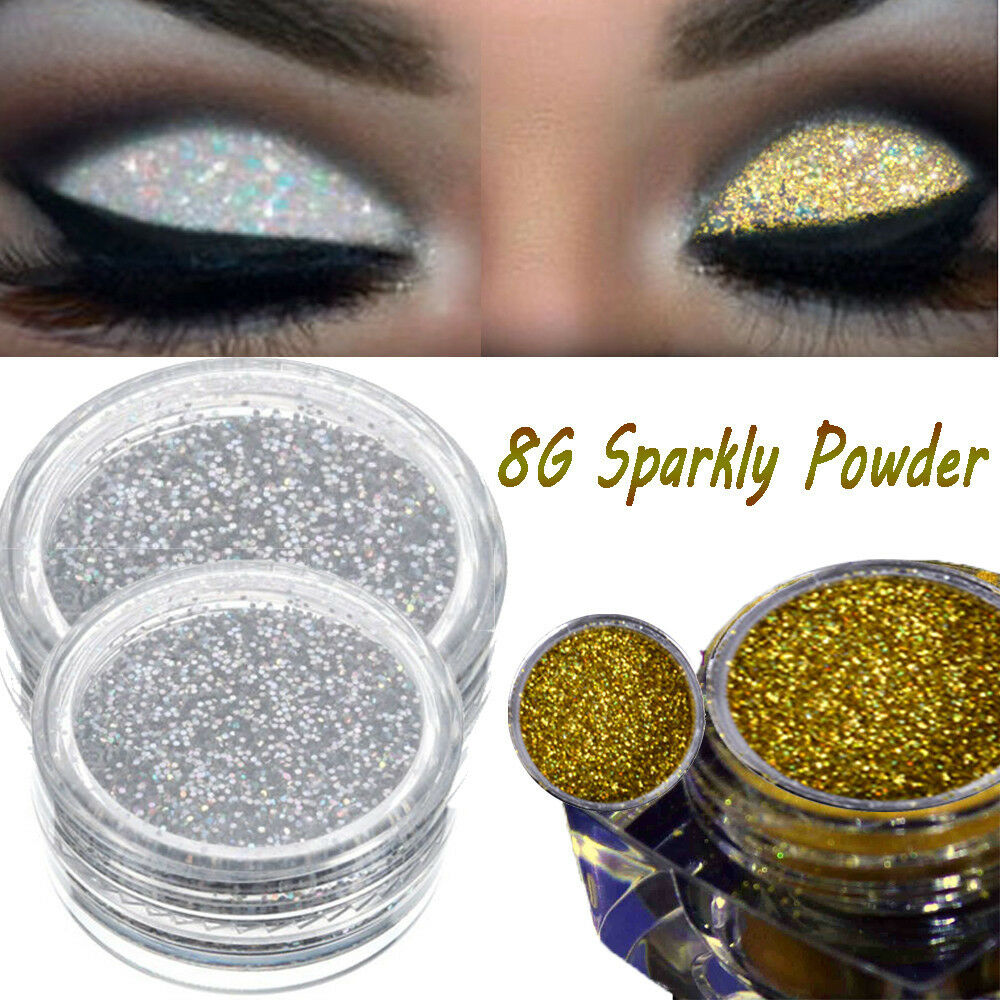 New Girl 8g Sparkly Makeup Glitter Loose Powder Eyeshadow Silver
