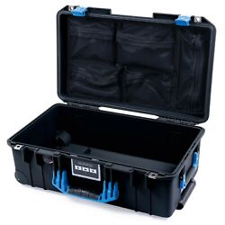 Black & Blue Pelican 1535 Air case with lid organizer. With wheels.