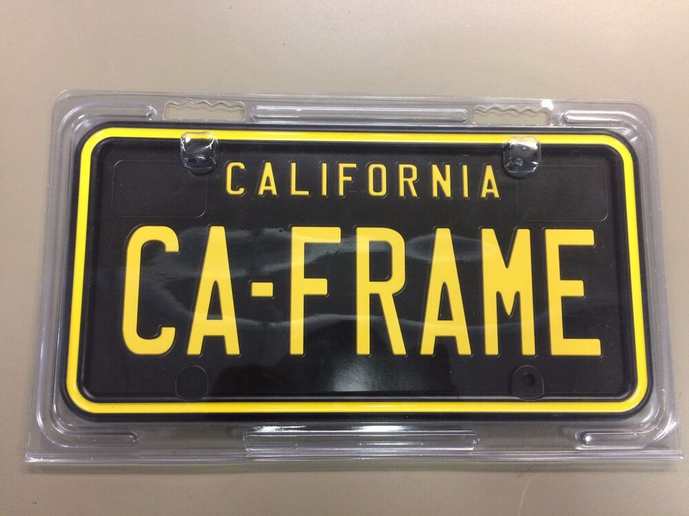 Black and Yellow California License Plate Frame 10162 | eBay