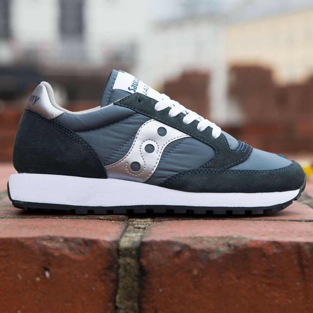 SAUCONY SCARPE SNEAKERS DONNA SHOES JAZZ ORIGINAL 1044-2 Blu Navy   Silver   0069ccc1d24
