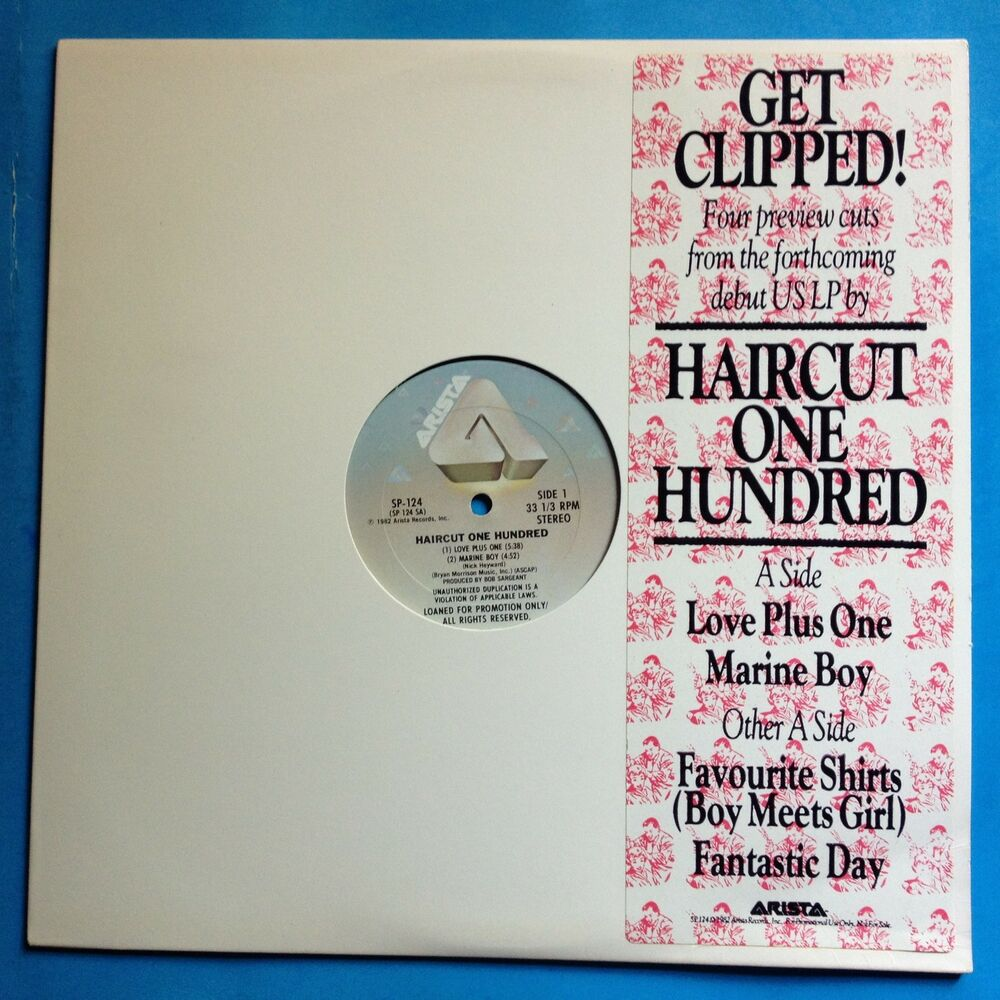 Haircut One Hundred Get Clipped 1982 Arista Promo Sampler Vgm