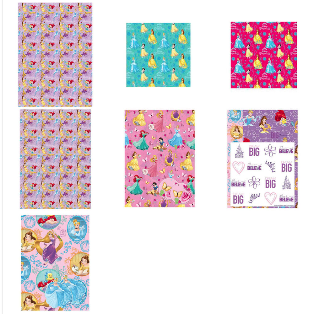 Details about Disney Princess Wrapping Paper and Gift Bags c1baa534c
