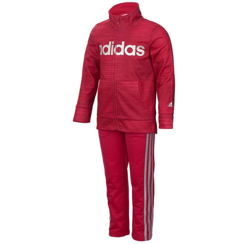 6b7726109 Adidas Kid Girls  Tricot Zip Jacket and Pant Set Pink