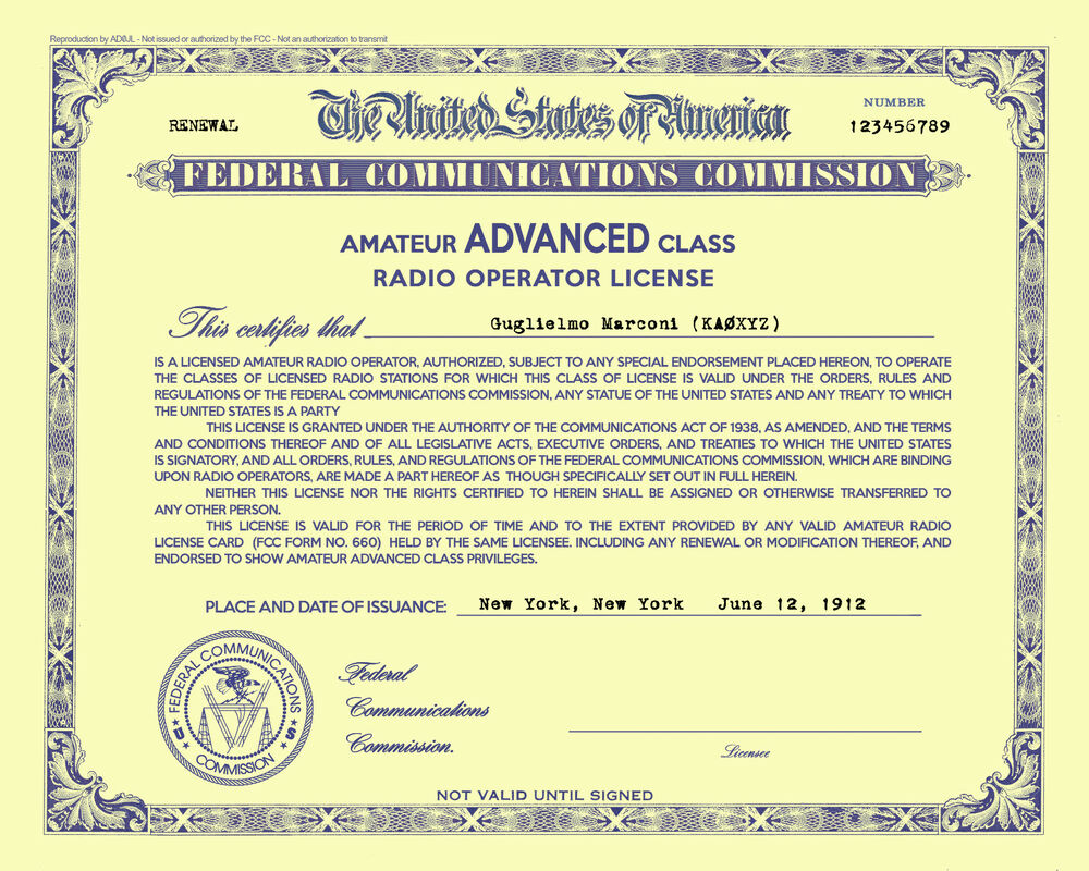 You renewing an amateur radio license
