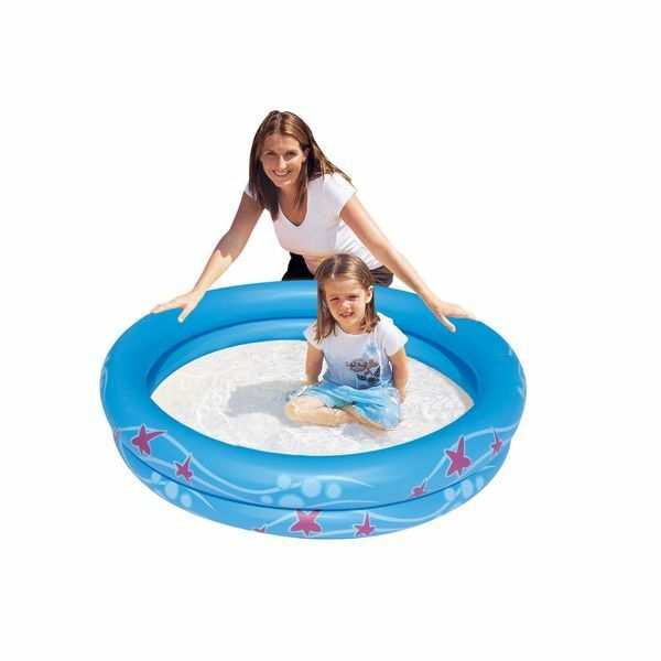 Inflatable Slide Clearwater Beach: Clearwater Inflatable 2 Ring Pool 52x9 Inches 821808118663