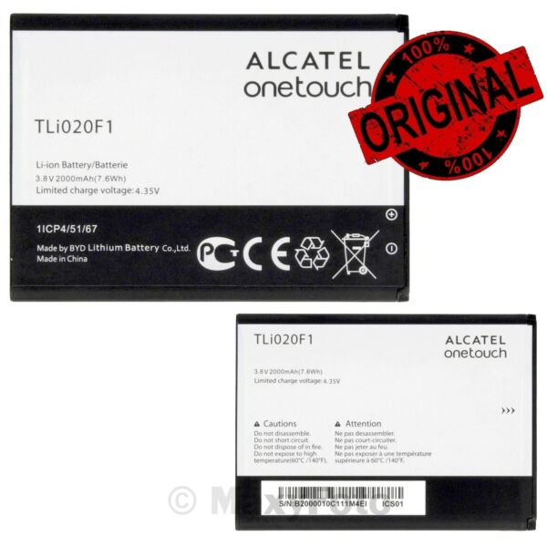 ALCATEL BATTERIA RICAMBI ORIGINALE TLI020F1 2000mAh PILA LITIO PER IDOL MINI 2 S