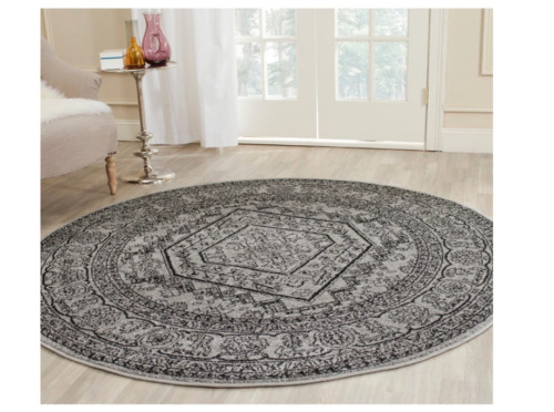 Home and Kitchen Rugs Living Room Townhouse Area Bedroom Girls Round 4ft Indoor