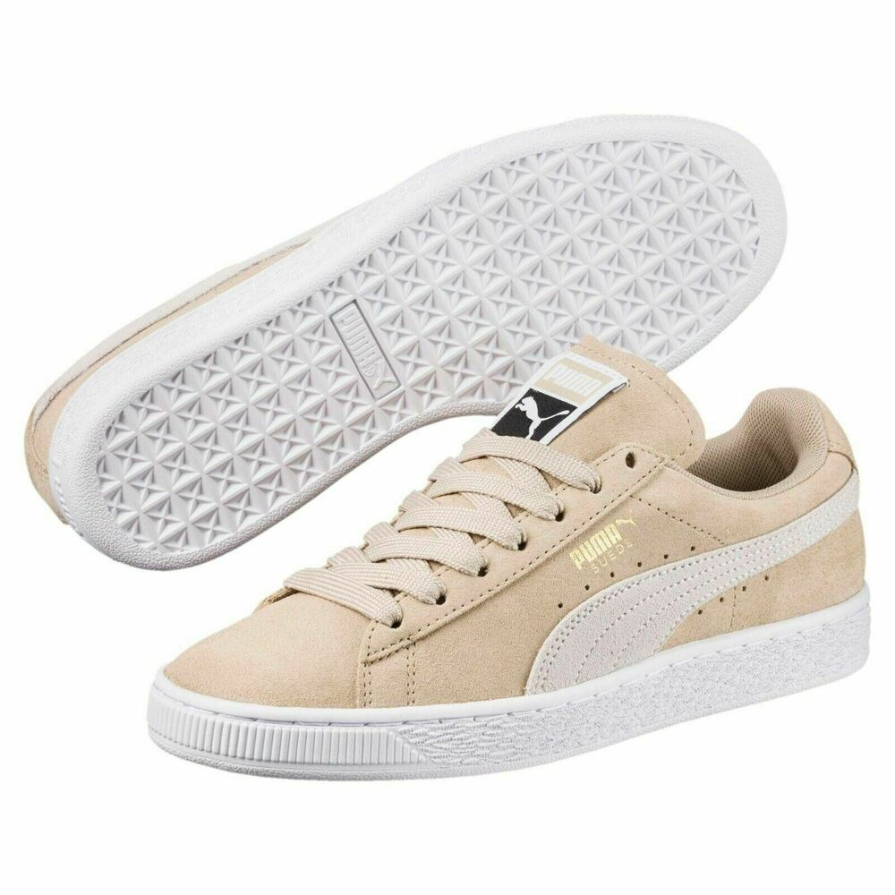 4f034d17e20 Details about  355462-59  Womens PUMA Suede Classic Sneakers - Beige Grey  White