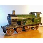 1912 Bing GBN Bavaria Germany Prewar Floor Toy Steam Train Locomotive Clockwork