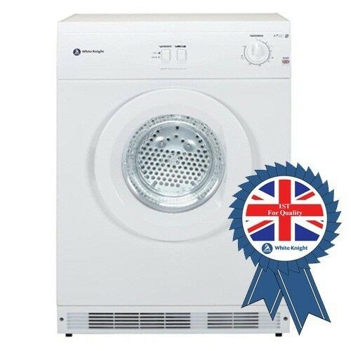 Details About New White Knight C44A7W 7Kg Vented Tumble Dryer Reverse Action