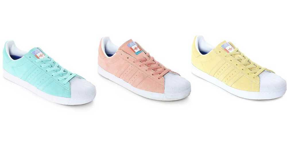 Details about NEW MEN S ADIDAS SUPERSTAR VULC ADV SKATE SHOES PASTEL   BLUE    PINK   YELLOW e0697af39