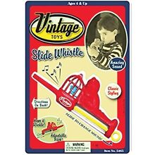 VINTAGE TOYS CAT AND BIRD SLIDE WHISTLE NEW IN PACKAGE 89099