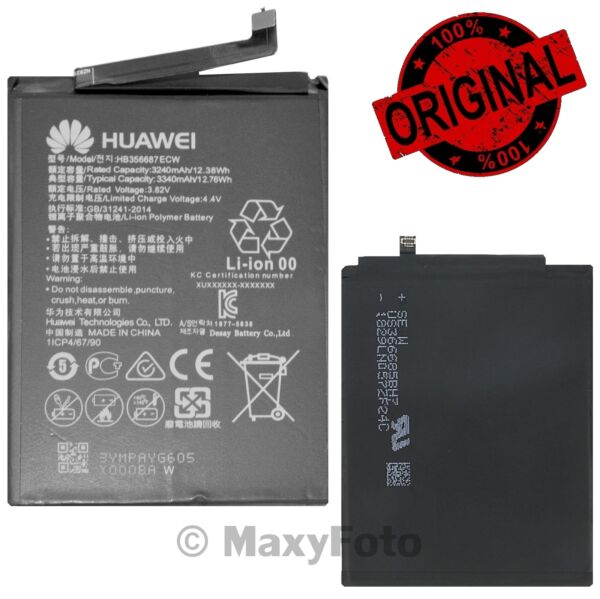 HUAWEI BATTERIA ORIGINALE HB356687ECW PER NOVA 2 PLUS HONOR 7X 9I MATE 10 LITE