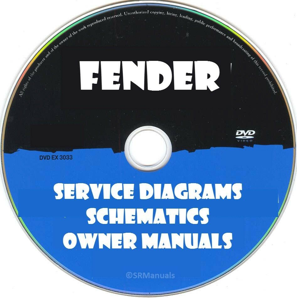 Fender Service Diagrams Schematics Manuals Pdfs On Dvd Huge Roland Ready Strat Wiring Diagram Collection Ebay