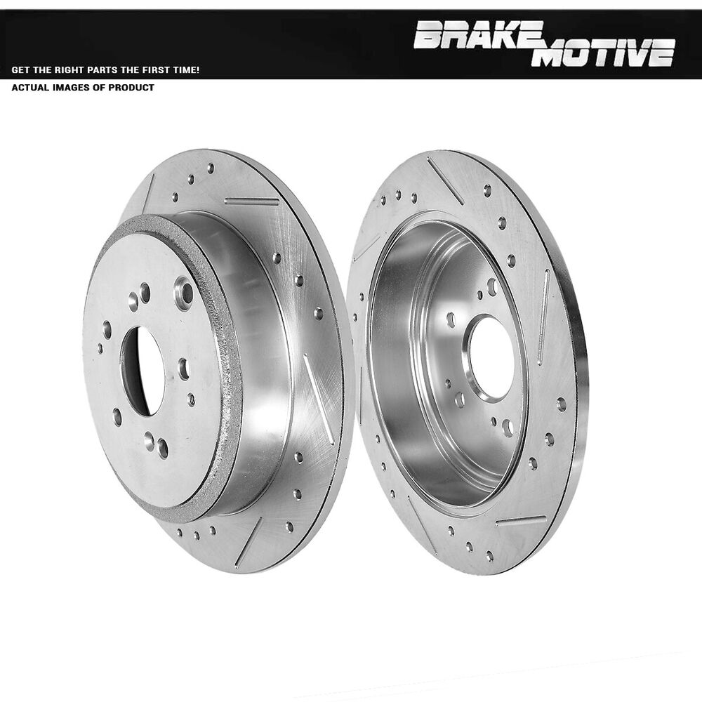 Rear Drilled Slotted Brake Rotors 2001