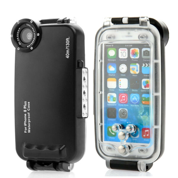 Underwater Waterproof Diving Housing Cover Phone Case for iPhone 8plus