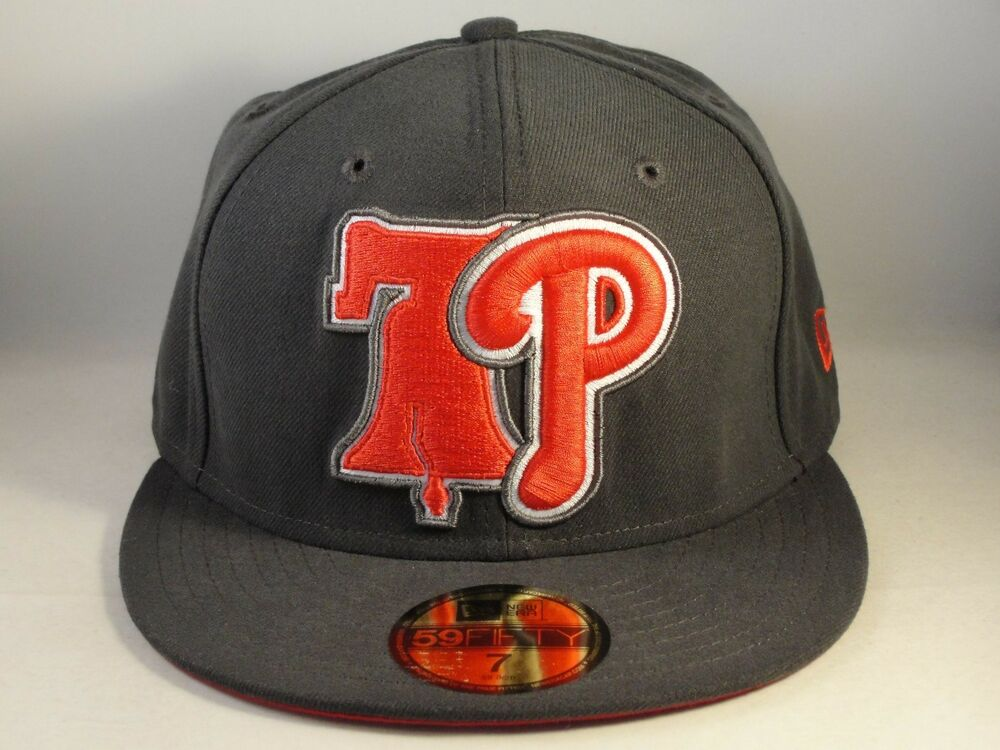 lowest price 668d2 270c7 Details about Philadelphia Phillies MLB New Era 59FIFTY Fitted Cap Hat Size  7 Gray