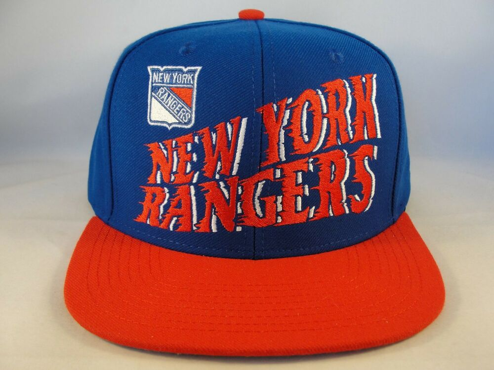 new arrival 3363d 4eb36 Details about New York Rangers NHL Snapback Cap Hat CCM Blue Red